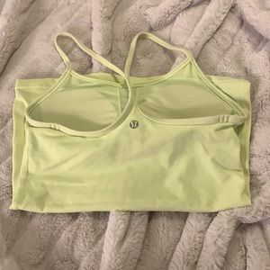 Lululemon yellow tank top with built in bra size 4